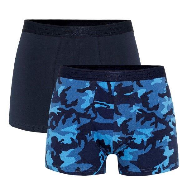 WESC 2 pakkaus Stan Camo Boxer Brief - Navy pattern * Kampanja *
