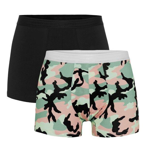 WESC 2 pakkaus Stan Camo Boxer Brief - Black pattern-2 * Kampanja *