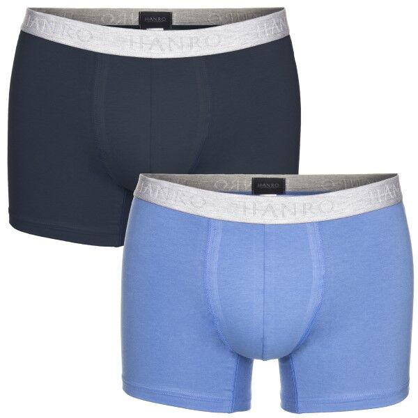 Hanro 2 pakkaus Cotton Essentials Pants - Navy/Blue