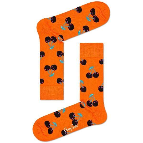 Happy Socks Cherry Sock - Orange patterned