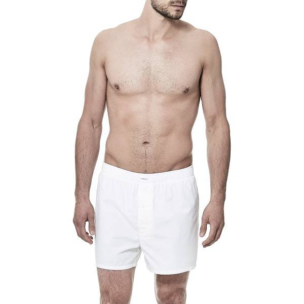 Bread & Boxers Bread and Boxers Boxer Short - White  - Size: 203101 - Color: valkoinen