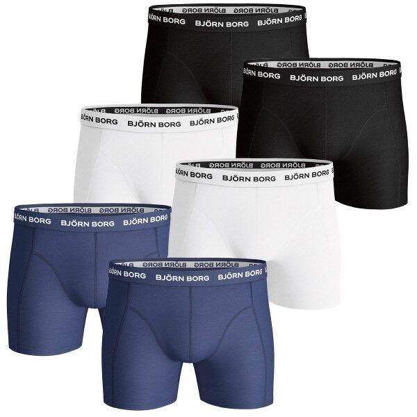 Björn Borg 6 pakkaus Essential Shorts - Mixed * Kampanja *  - Size: 9999-1024 - Color: Multi-colour