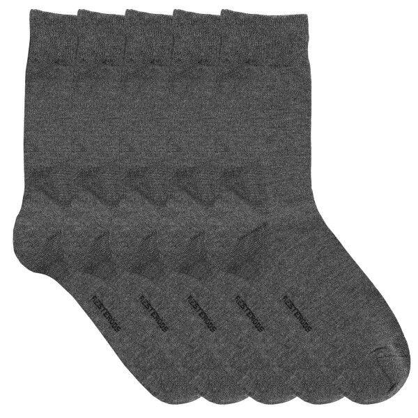 Resteröds 5 pakkaus Bamboo Socks - Darkgrey  - Size: 7255-7501 - Color: tummanharm