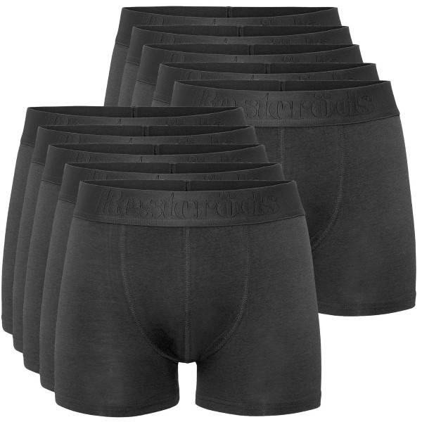 Resteröds 10 pakkaus Gunnar Bamboo Boxer - Black-2 * Kampanja *  - Size: 7935-49 - Color: Pikimusta