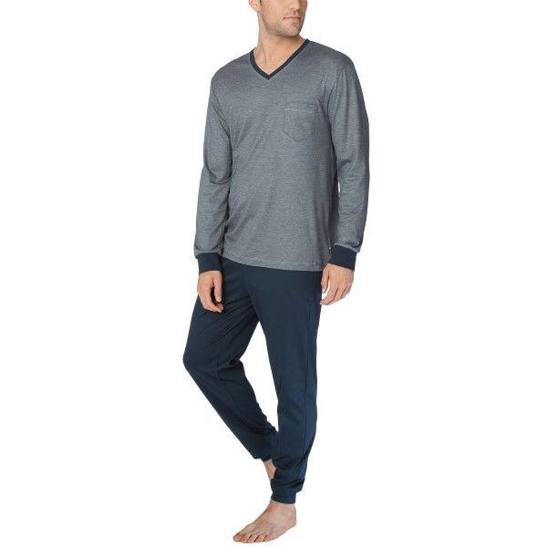 Calida Comfy Zone Slim Leg Long Pyjama - Grey/Darkgrey  - Size: 48565 - Color: Harmaa/Tumman harmaa