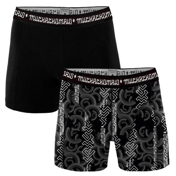 Muchachomalo 2 pakkaus Script Boxer - Black pattern-2