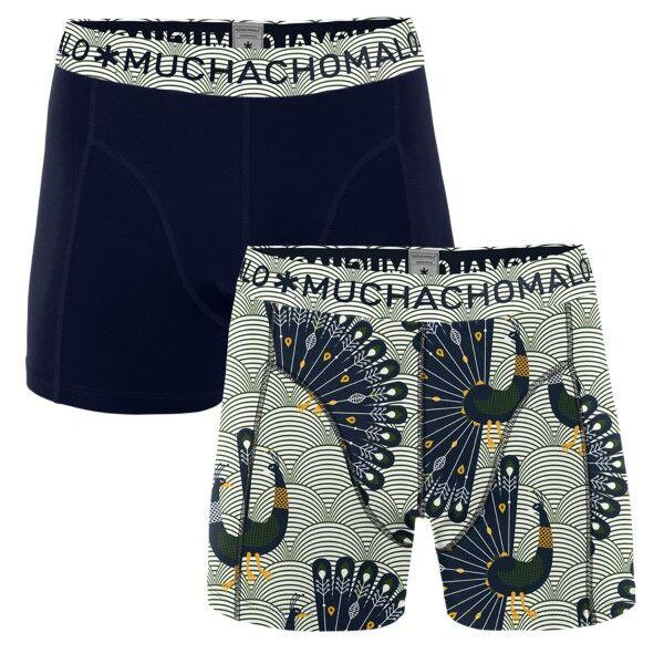 Muchachomalo 2 pakkaus Proud Boxer - Blue Pattern