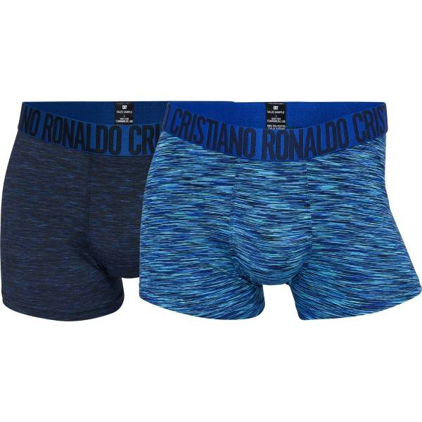 CR7 Cristiano Ronaldo 2 pakkaus Fashion Microfiber Trunk - Navy/Blue  - Size: 8502-49 - Color: laiv.sin/sin