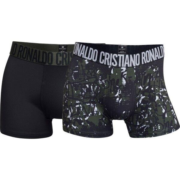 CR7 Cristiano Ronaldo 2 pakkaus Fashion Microfiber Trunk - Black/Green  - Size: 8502-49 - Color: musta/vihr