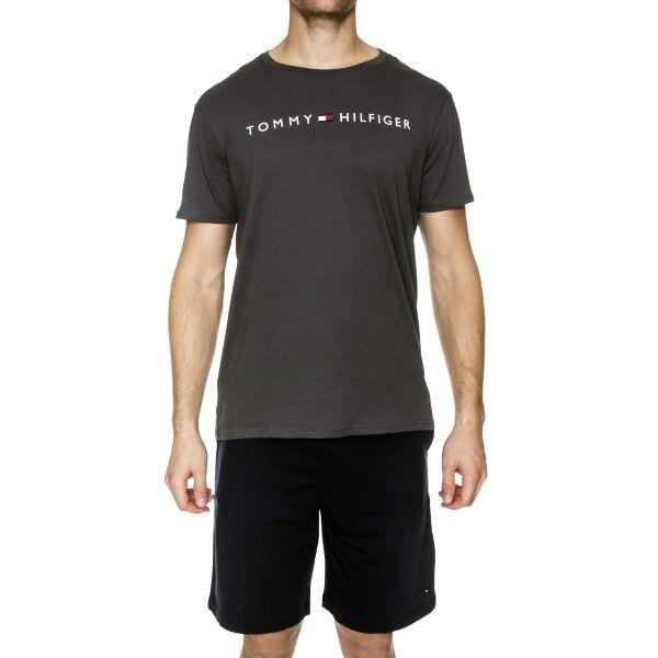Tommy Hilfiger Cotton Icon SS Short Set Logo - Navy/Grey * Kampanja *  - Size: UM0UM01006 - Color: laiv.si/harmaa