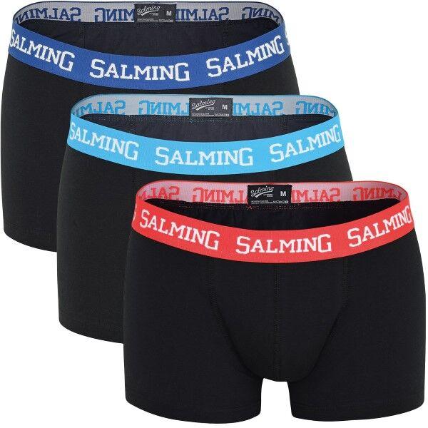 Salming 3 pakkaus Abisko Boxer - Black  - Size: 817310 - Color: musta