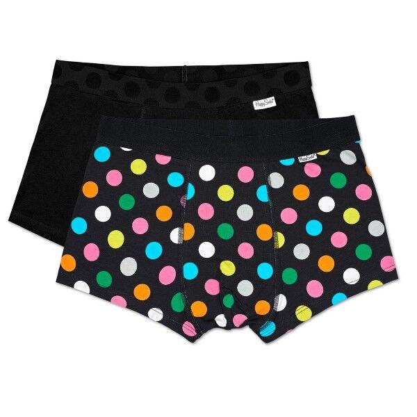 Happy socks 2 pakkaus Big Dot Trunks - Black  - Size: BDO96-9000 - Color: musta