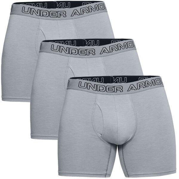Under Armour 3 pakkaus Charged Cotton Stretch Boxerjock - Grey