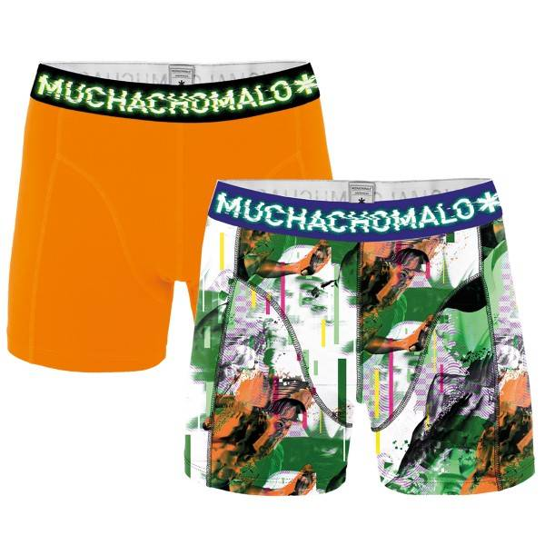 Muchachomalo 2 pakkaus Life Is a Glitch Boxer - Green/orange