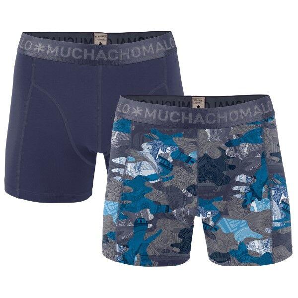 Muchachomalo 2 pakkaus Hustler Boxer - Blue Pattern