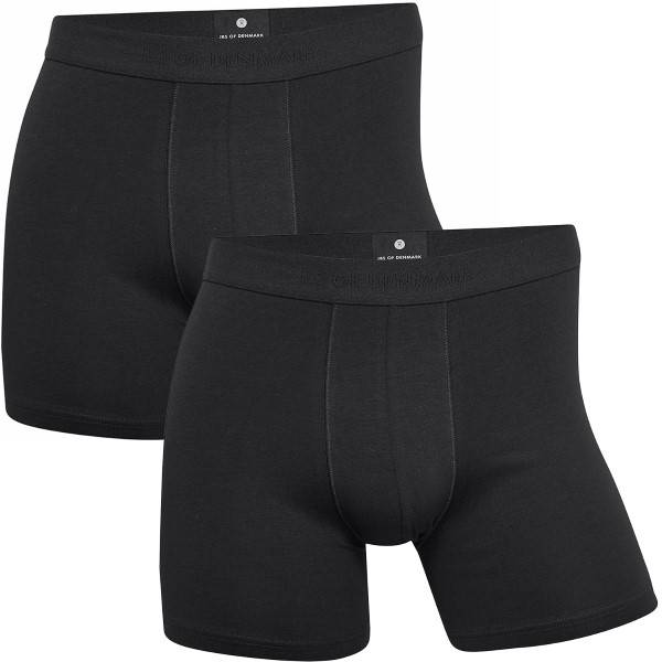 JBS of Denmark 2 pakkaus Organic Cotton Tights - Black  - Size: 122-49 - Color: musta