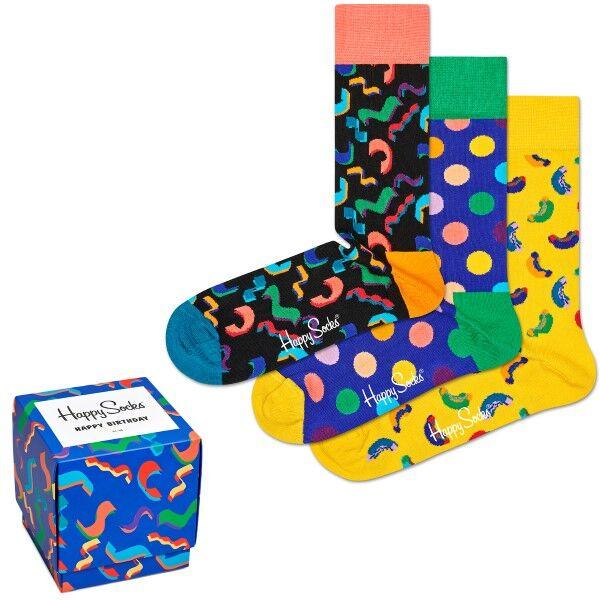 Happy socks 3 pakkaus Happy Birthday Gift Box - Mixed