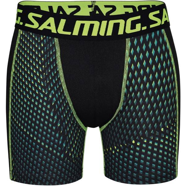 Salming Racer Extra Long Boxer - Green/Yellow  - Size: 912107 - Color: vihreä/keltain