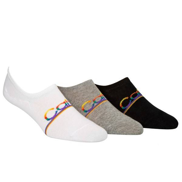 Calvin Klein 3 pakkaus Toby Pride Sneaker Liner Socks - Mixed  - Size: ECG269 - Color: Multi-colour