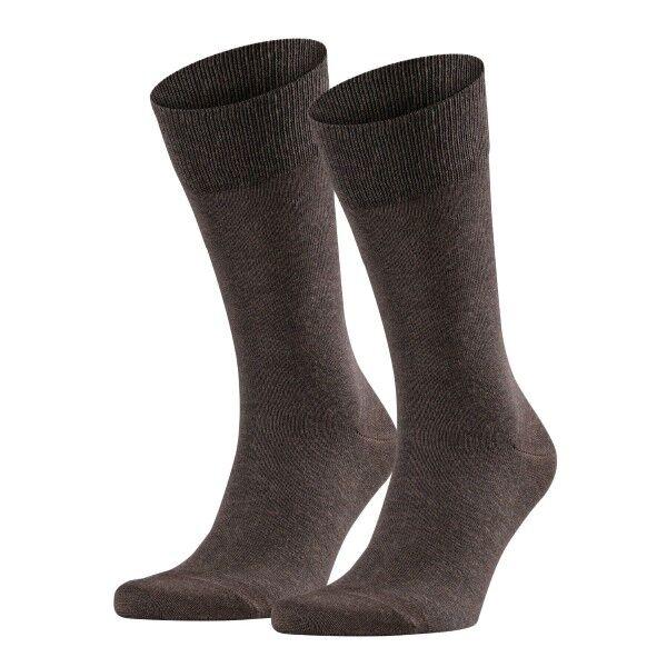 Falke 2 pakkaus Happy Socks - Darkbrown  - Size: 14610 - Color: tummanrusk.