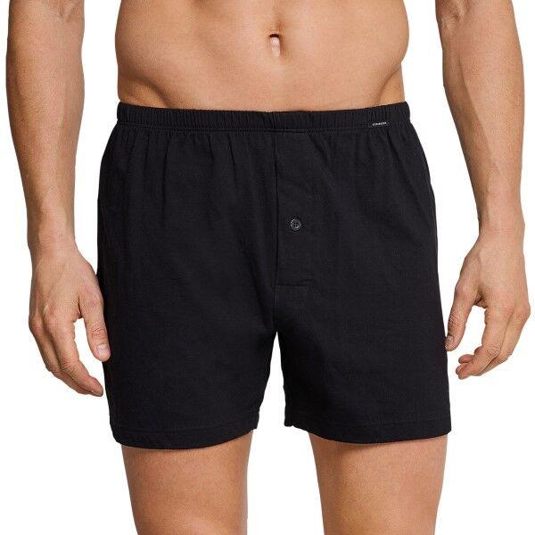 Schiesser Essentials Jersey Boxers 3XL-4XL - Black  - Size: 110291 - Color: musta