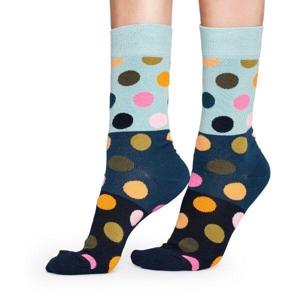 Happy Socks Big Dot Block Sock - Blue Pattern