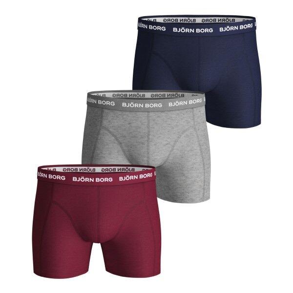 Björn Borg 3 pakkaus Essential Shorts 1933 - Red/Grey * Kampanja *  - Size: 1931-1241 - Color: Punainen/Harmaa