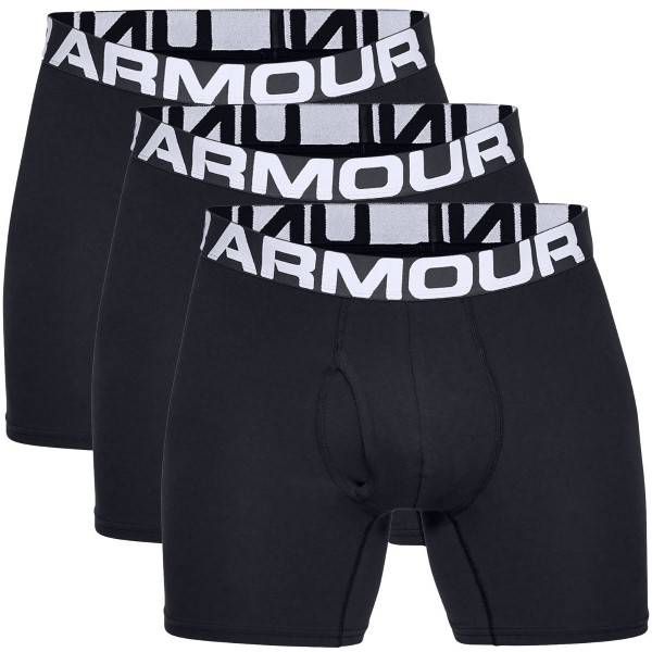 Under Armour 3 pakkaus Charged Cotton 6in Boxer - Black  - Size: 1327426 - Color: musta