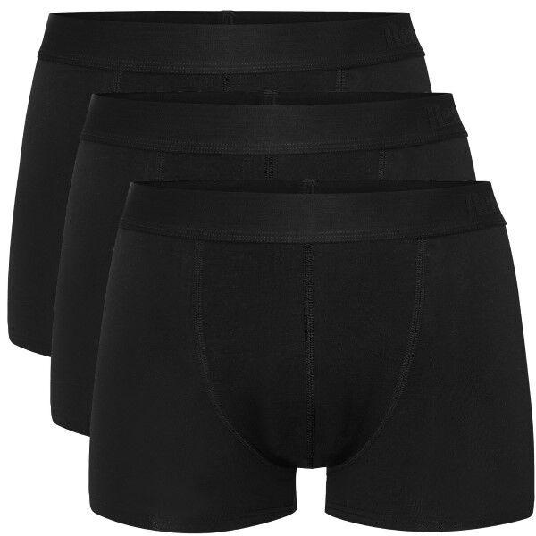 Resteröds 3 pakkaus Lyocell Boxer Trunk - Black  - Size: 7932-49 - Color: musta