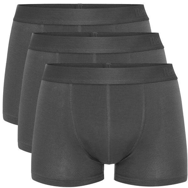 Resteröds 3 pakkaus Lyocell Boxer Trunk - Darkgrey  - Size: 7932-49 - Color: tummanharm