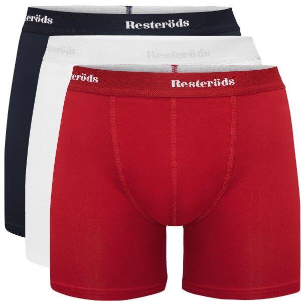 Resteröds 3 pakkaus Organic Cotton Boxer - Navy/Red