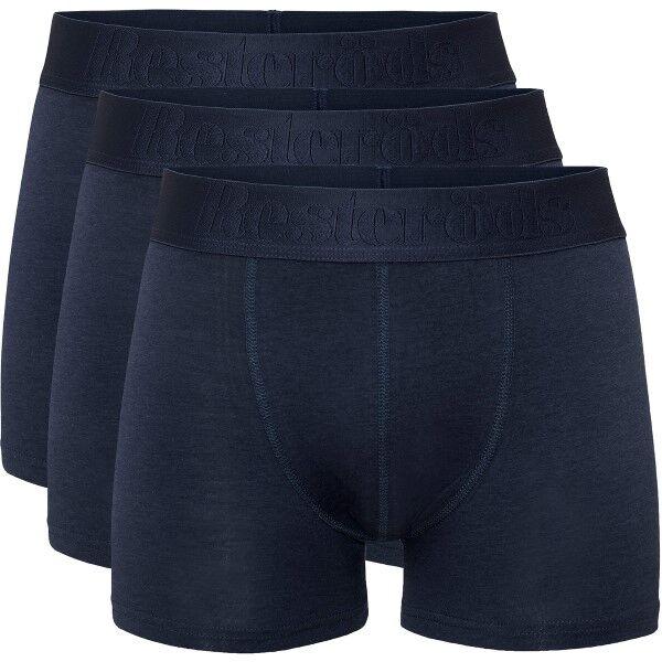 Resteröds 3 pakkaus Cotton Stretch Boxer - Navy-2 * Kampanja *  - Size: 97903 - Color: Merensininen