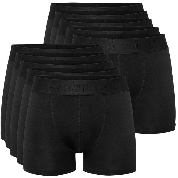 Resteröds 10 pakkaus Cotton Stretch Boxers - Black * Kampanja *