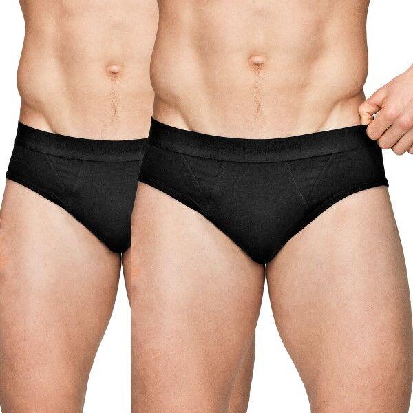 JBS of Denmark 2 pakkaus Organic Cotton Brief - Black  - Size: 122-66 - Color: musta