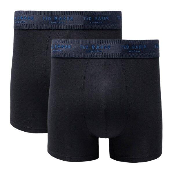 Ted Baker 2 pakkaus Modal Basics Trunks - Black  - Size: 170748 - Color: musta