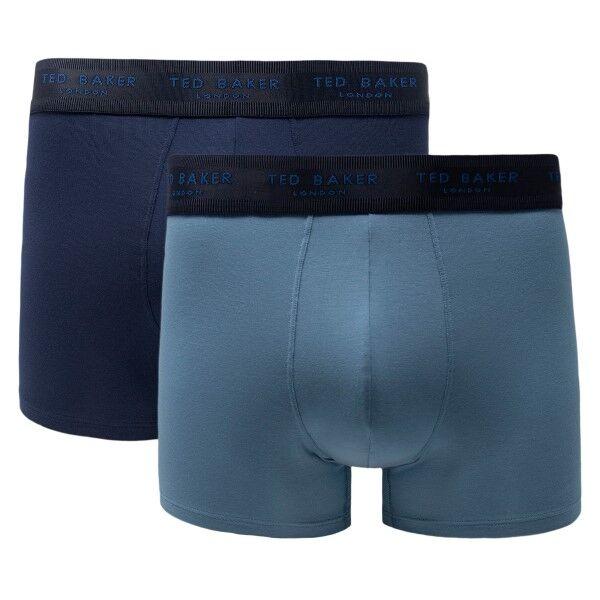 Ted Baker 2 pakkaus Modal Basics Trunks - Blue/Grey  - Size: 170748 - Color: sin/harm