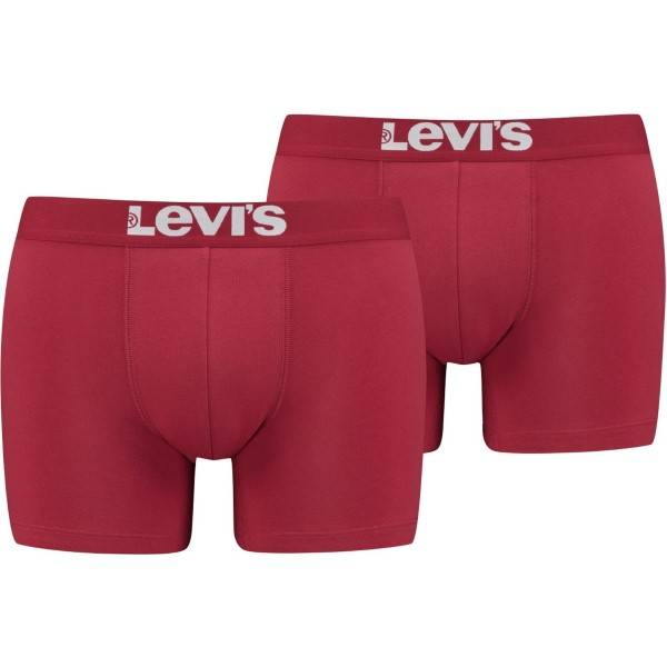 Levis 2 pakkaus Base Boxer - Red  - Size: 905001001 - Color: punainen