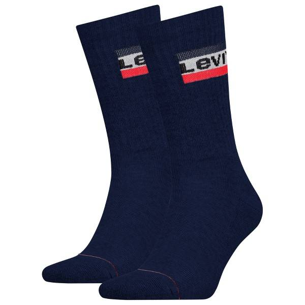 Levis 2 pakkaus Sport Regular Cut Sock - Darkblue  - Size: 902012001 - Color: tummansin.