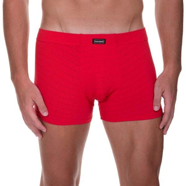 Bruno Banani Check Line 2.0 Shorts - Red  - Size: 2201-2165 - Color: punainen