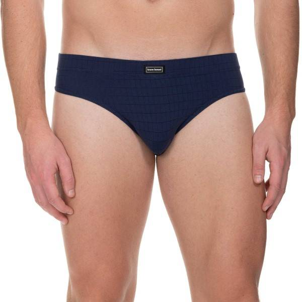 Bruno Banani Check Line 2.0 Sports Brief - Navy-2  - Size: 2203-2165 - Color: Merensininen