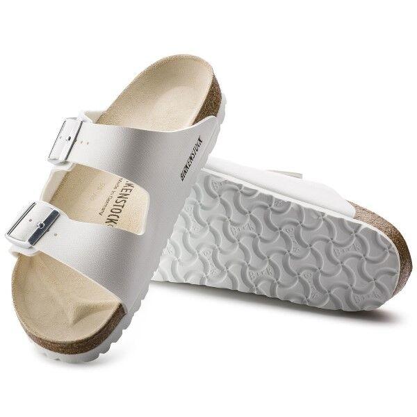 Birkenstock Arizona White Nahka - White  - Size: 051133 - Color: valkoinen