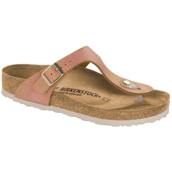 Birkenstock Gizeh Leather Washed Metallic - Lightpink * Kampanja *  - Size: 1012909 - Color: vaalea roosa