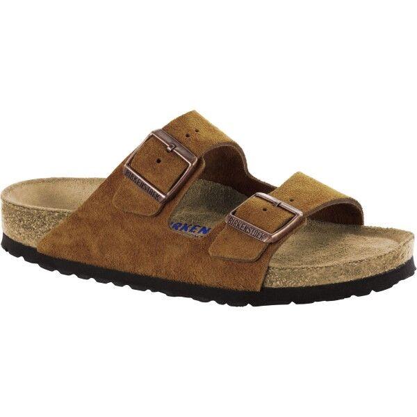 Birkenstock Arizona Suede Mjuk Fotbädd - Brown  - Size: 1009527 - Color: ruskea
