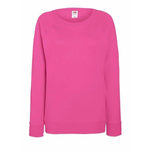 Image of Fruit of the Loom Lady-Fit Light Raglan Sweat - Pink