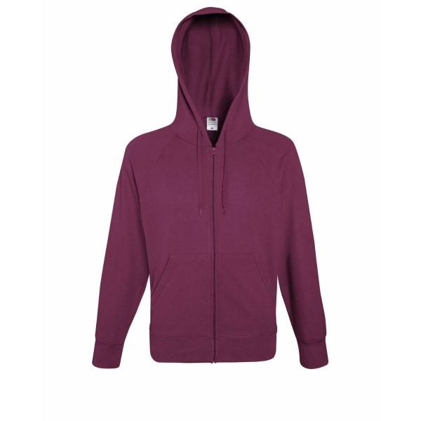 Fruit of the Loom Hooded Sweat Jacket - Wine red