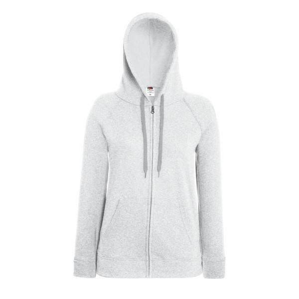 Fruit of the Loom Lady-Fit Hooded Sweat Jacket - Greymarl
