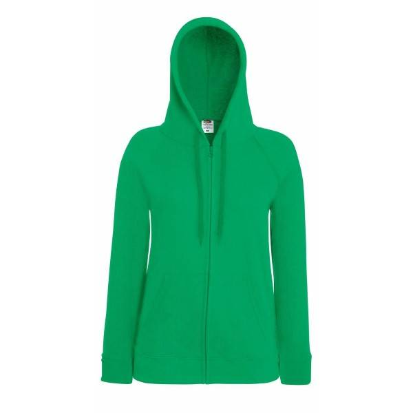 Fruit of the Loom Lady-Fit Hooded Sweat Jacket - Green
