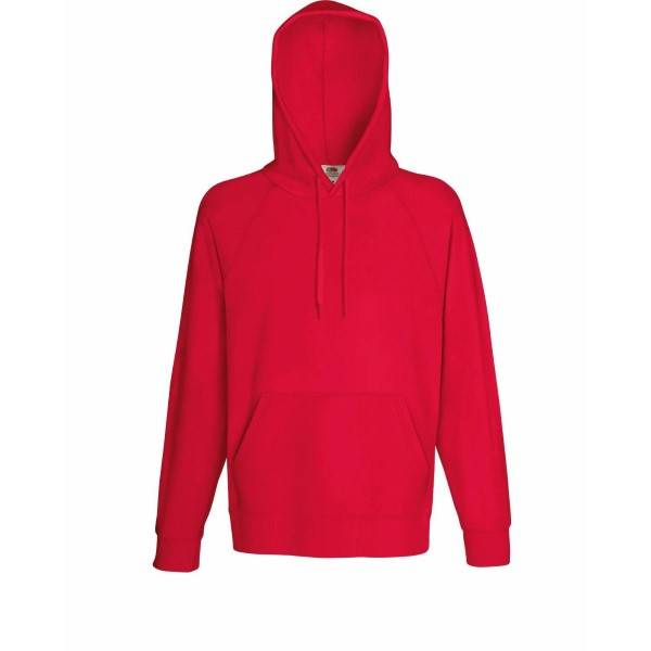 Fruit of the Loom Light Hooded Sweat - Red