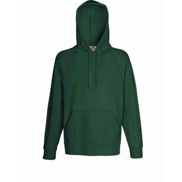 Image of Fruit of the Loom Light Hooded Sweat - Darkgreen