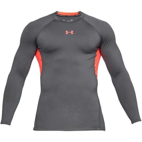 Under Armour HeatGear LS Compression Shirt - Red/Grey * Kampanja *
